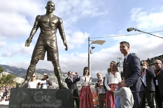 Cristiano Ronaldo estatua Ilha da Madeira (Foto: EFE)