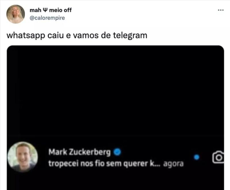 Memes sobre Telegram ficam em alta com queda do WhatsApp — Foto: Reprodução/TechTudo