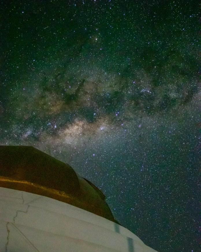 Fotógrafo faz registros de céu estrelado em MS — Foto: Silas Ismael/Foto