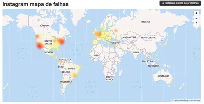 Instagram apresenta problemas no Brasil e em outros países — Foto: Reprodução/TechTudo