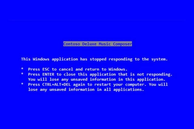 Texto da tela azul do Windows popularizou o atalho (Foto: Reprodução/The Verge)