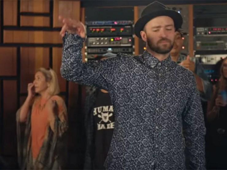 Justin Timberlake em cena de 'Can't stop the feeling', da trilha da animação 'Trolls' (Foto: Divulgação)