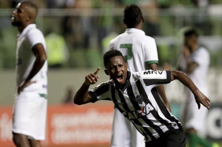 Cazares marcou o gol da vitória no jogo de ida da semifinal do Mineiro — Foto: Futura Press