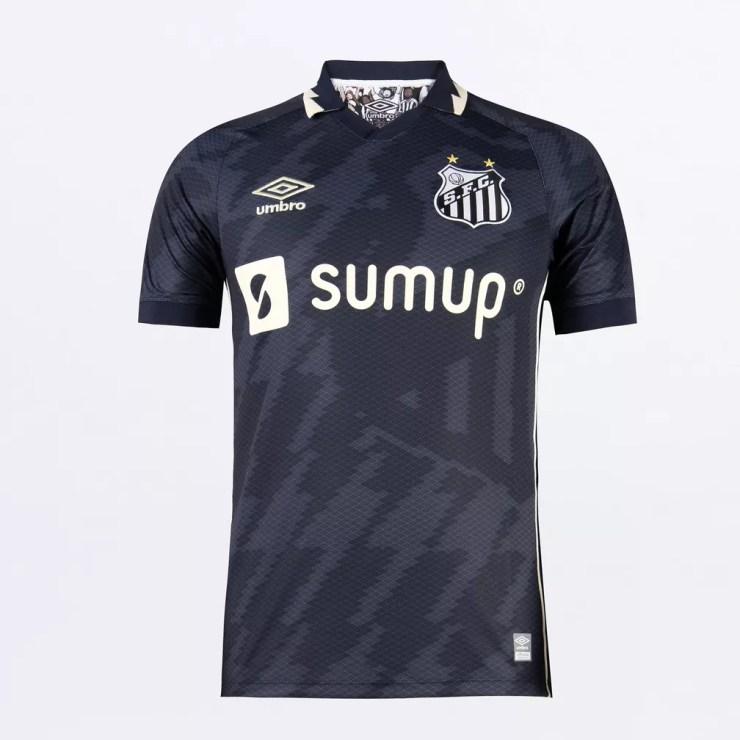 Lançamento do terceiro uniforme do Santos em 2021 — Foto: Divulgação/Umbro