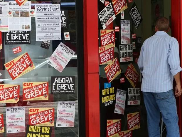 SP greve dos bancários (Foto: Fábio Motta/Estadão Conteúdo)