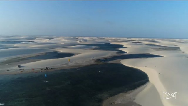 Belezas naturais dos Lençóis Maranhenses podem se tornar Patrimônio Natural pela Unesco em 2020. — Foto: Reprodução/TV Mirante