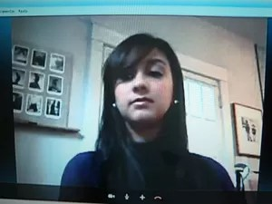 Moradora de Araçoiaba da Serra estava na região dos EUA quando Sandy passou (Foto: Reprodução/TV Tem)