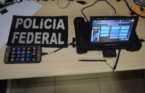 Polícia Federal prendeu homem com material pornográfico de 123 menores de idade (Foto: Polícia Federal/Divulgação)