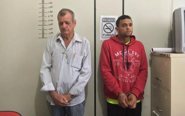 Adônis (à esquerda) e Deuel (à direita) chegaram a ser presos na ocasião (Foto: Thainá Paz/ G1)