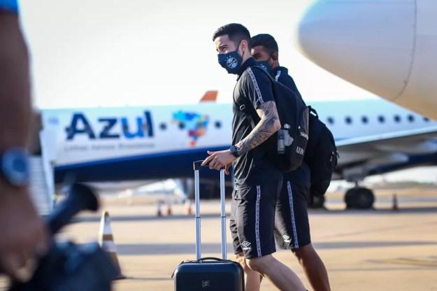 Villasanti, reforço do Grêmio — Foto: Lucas Uebel/Grêmio