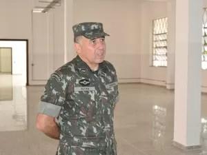 Comandante Dutra na Escola de Cadetes, EsPCEx, em Campinas (Foto: Divulgação/EsPCEx)