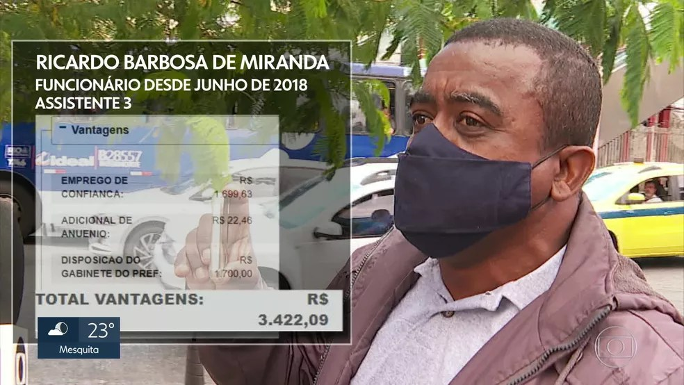 Ricardo Barbosa de Miranda foi contratado pela prefeitura em junho de 2018 — Foto: Reprodução/TV Globo
