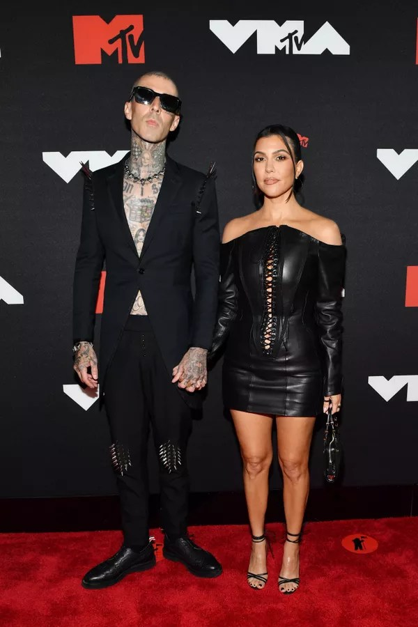 NEW YORK, NEW YORK - SEPTEMBER 12: (LR) Travis Barker and Kourtney Kardashian attend the 2021 MTV Video Music Awards at Barclays Center on September 12, 2021 in the Brooklyn borough of New York City.  (Photo by Noam Galai/Getty Images for MTV/ViacomCBS) (Photo: Getty Images for MTV/ViacomCBS)
