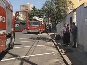 Bombeiros controlaram as chamas rapidamente (Foto: Reprodução/TV TEM)