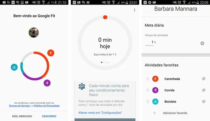 Google Fit controla exercícios físicos no Android (Foto: Reprodução/Barbara Mannara)