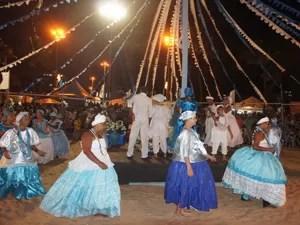 No templo de Iemanjá, se apresentaram 36 terreiros de diversas cidades da Paraíba (Foto: Jorge Machado/G1)