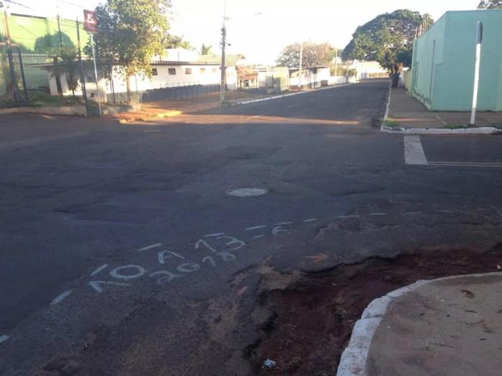 Local onde doméstica foi assaltada em Campo Grande, MS (Foto: Osvaldo Nóbrega/TV Morena)