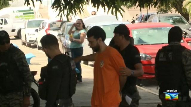O assassino confesso de Mariana Costa, Lucas Porto, em avaliação de sanidade mental em 31 de agosto. (Foto: Reprodução/TV Mirante)