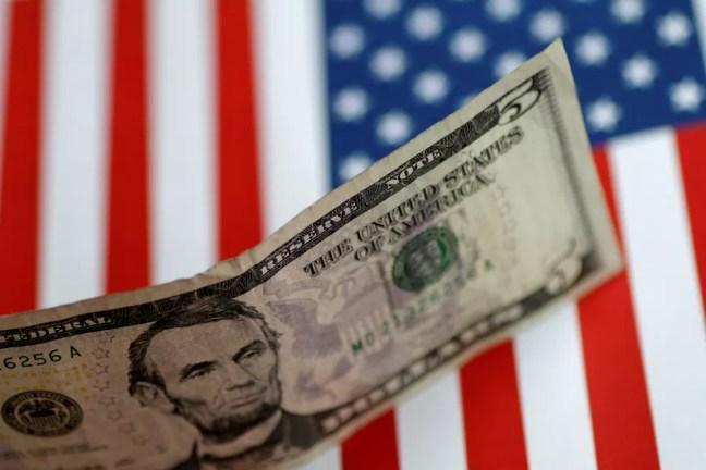 Nota de US$ 5 dólares — Foto: REUTERS/Thomas White