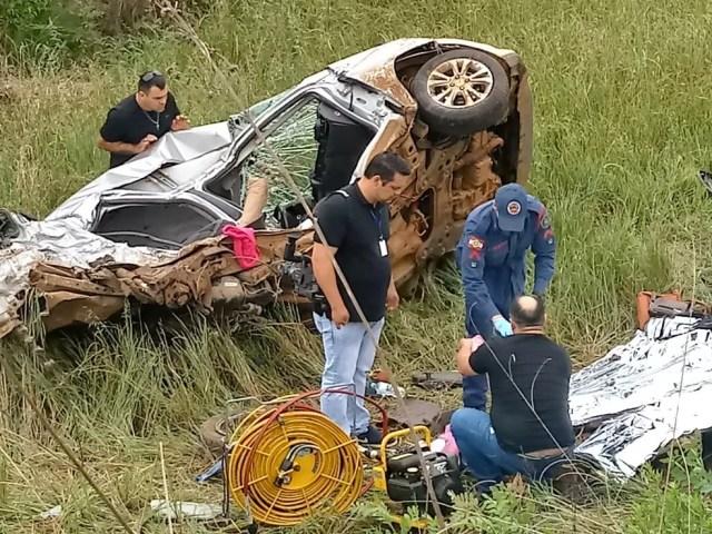 Acidente em SC na BR-470 envolveu três veículos. (Foto: Rubiane Lima/Jornal A Semana Curitibanos)