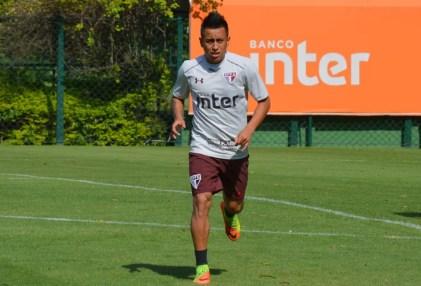 Cueva é multado no São Paulo pela segunda vez (Foto: Erico Leonan/saopaulofc.net)