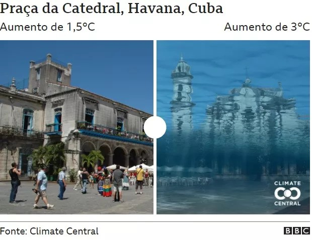 Cathedral Square (Photo: CLIMATE CENTRAL via BBC)