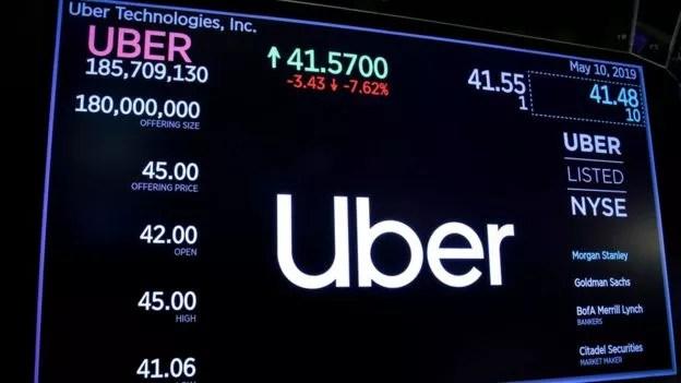 BBC - Ações da Uber estrearam valendo US$ 45 (Foto: BRENDAN MCDERMID/REUTERS)