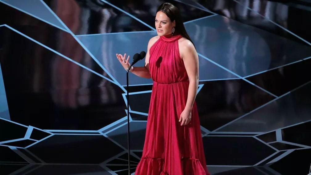 Daniela Vega, de 'Uma mulher fantástica', introduz apresentação musical no Oscar (Foto: Lucas Jackson/Reuters)