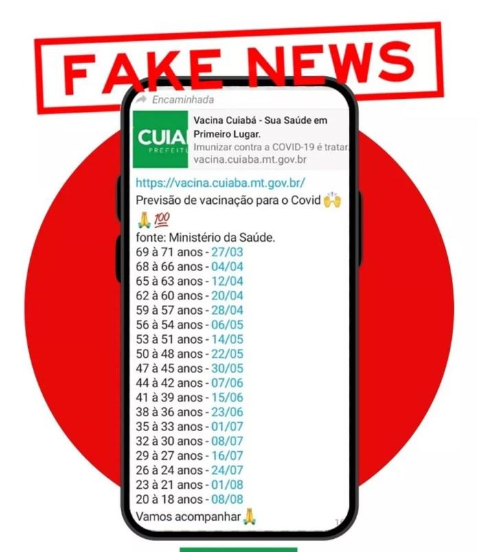 Fake news circula em grupos de WhatsApp — Foto: Divulgação