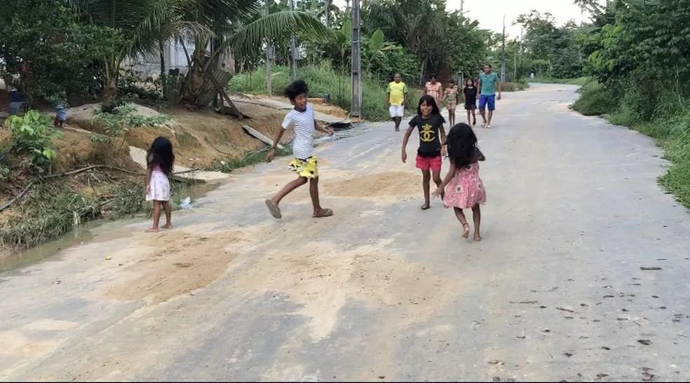Comunidade Parque das Tribos, em Manaus. — Foto: Rebeca Beatriz/G1 AM