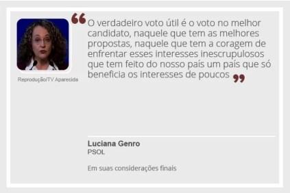 Luciana Genro (Foto: Arte/G1)