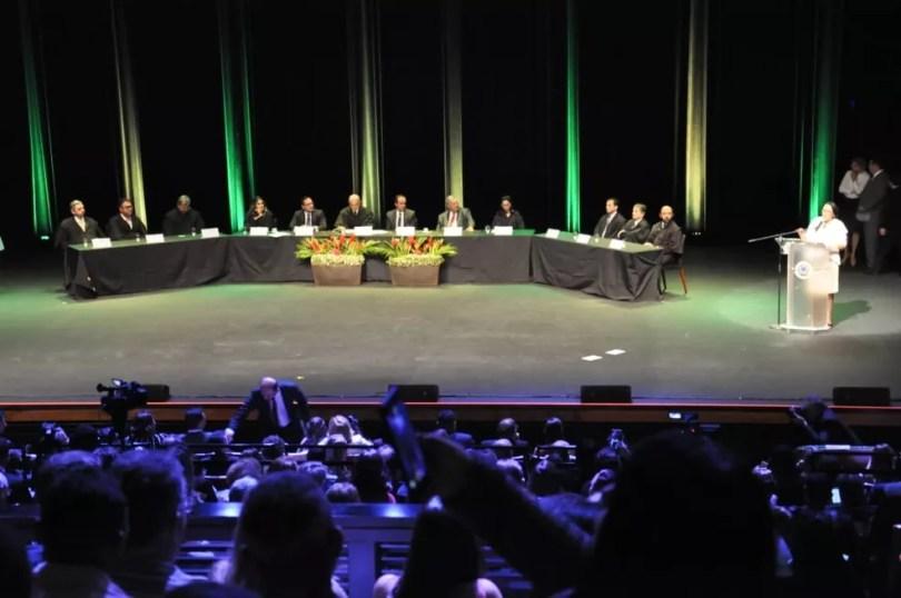 Diplomação dos eleitos de 2018 no Rio Grande do Norte aconteceu nesta quarta (19) — Foto: Assessoria de Imprensa