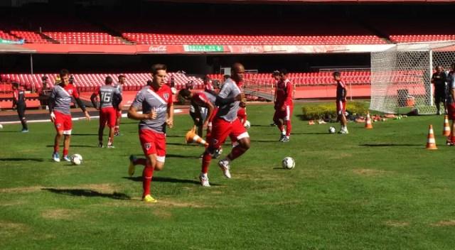 RAfael Tolói são paulo treino (Foto: André Guerreiro)