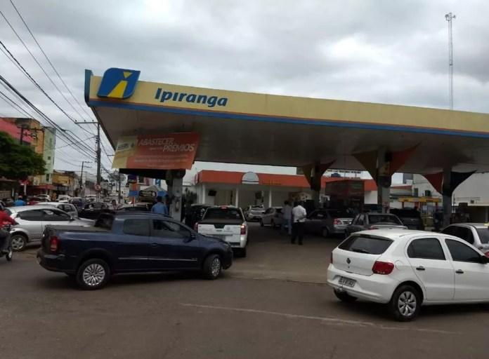Sindicato diz que  todos os postos da capital foram reabastecidos (Foto: Aline Nascimento/G1)
