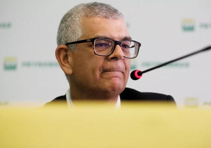 Ivan Monteiro, presidente da Petrobras, durante coletiva  — Foto: Nacho Doce/Reuters