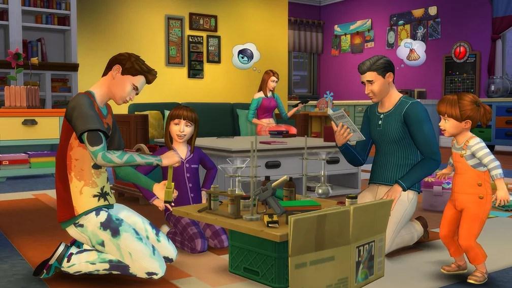 Uma das expansões de 'The Sims 4', 'Vida em família', foca na rotina caseira — Foto: Divulgação
