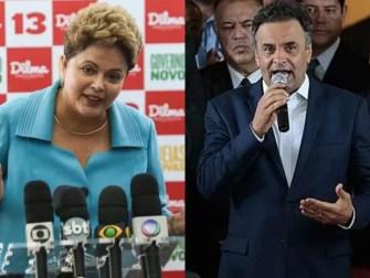 Os candidatos do PT, Dilma Rousseff (esq.), e PSDB, Aécio Neves (dir.), em imagens de arquivo (Foto: Felipe Rau/ Estadão Conteúdo e Ueslei Marceino/Reuters)