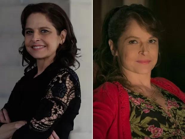Veja o antes e depois da atriz!  (Foto: Gshow )