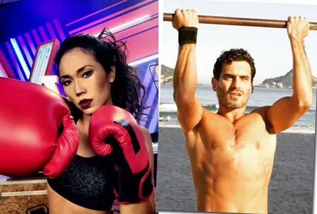 """Dani com luvas de boxe no """"The Voice Web"""" e o novo namorado, o ator Nikolas Antunes (Foto: Reprodução/Instagram)"""