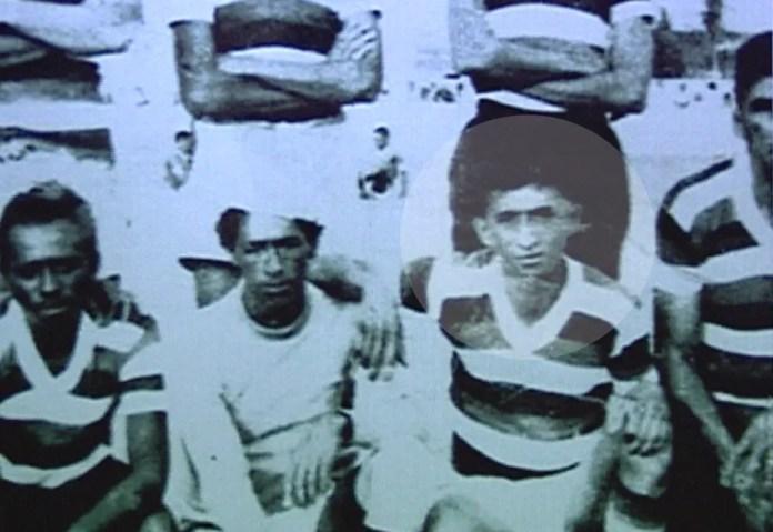 Genival Lacerda, zagueiro franzino nos tempos de Treze — Foto: Reprodução / TV Globo