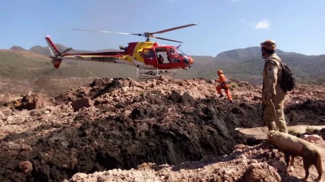 Rompimento de barragem em Brumadinho deixou até agora 150 mortos e 182 desaparecidos — Foto: Corpo de Bombeiros/Divulgação