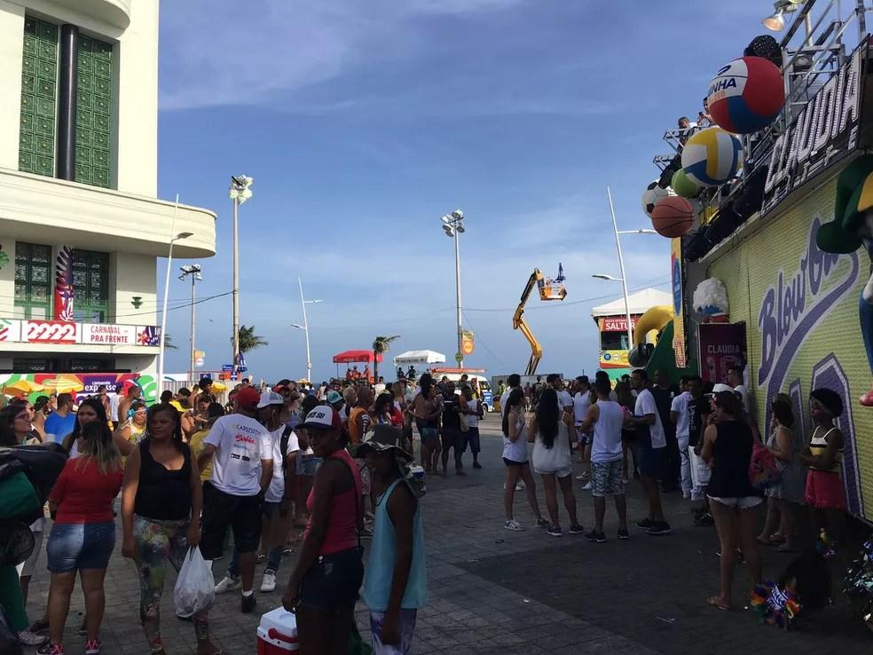 Bloco da cantora Claudia Leitte abrirá o carnaval de Salvador 2018 (Foto: Henrique Mendes/G1 Bahia)