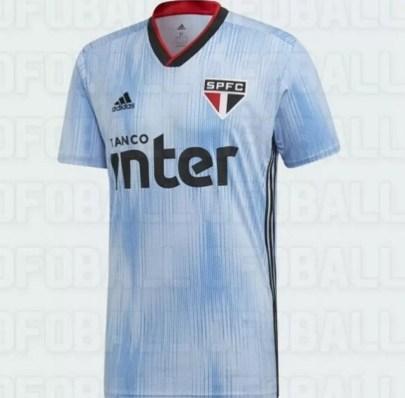 Suposto novo terceiro uniforme do São Paulo — Foto: Reprodução