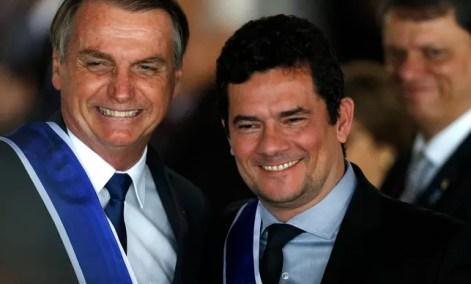 Image result for Bolsonaro e Sérgio Moro