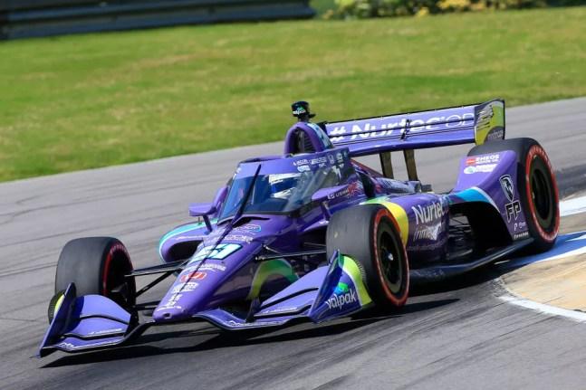 Grosjean guia carro da Dale Coyne no GP do Alabama da IndyCar; francês estreou com décimo lugar na categoria — Foto: David J. Griffin/Icon Sportswire via Getty Images