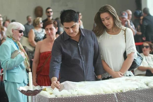 Cesar Filho e a esposa (Foto: Brazil News)