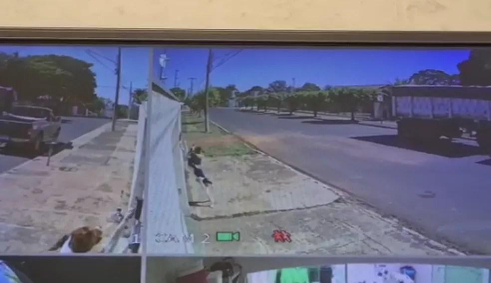 Família instalou câmeras de segurança e confirmou que era mesmo o Faísca que tocava a campainha da casa — Foto: Reprodução