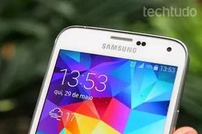 Galaxy S5 apresenta processador quad-core e 2 RAM de memória (Foto: Luciana Maline/TechTudo) (Foto: Galaxy S5 apresenta processador quad-core e 2 RAM de memória (Foto: Luciana Maline/TechTudo))