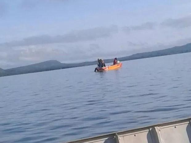 Corpo de Bombeiros faz buscas por homem no lago da Usina Hidrelétrica de Lajeado (Foto: Divulgação)