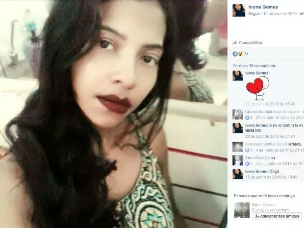 Ivone Gomes foi morta na quitinete onde morava com amiga (Foto: Reprodução/ Facebook)